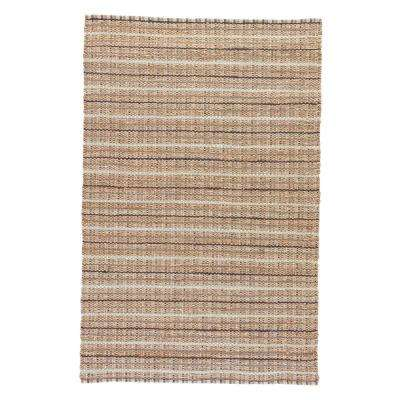 Natural Latte 3 ft. x 4 ft. Stripe Area Rug
