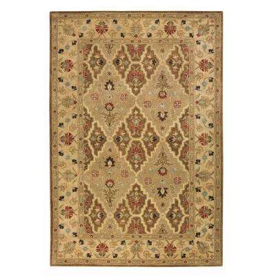 Menton Spice Brown/Soft Gold 6 ft. x 9 ft. Area Rug