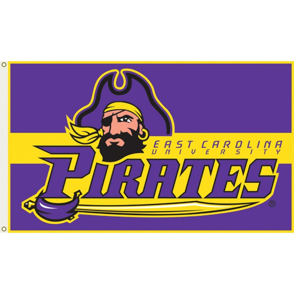 SCOTT 3 ft. x 5 ft. Polyester East Carolina Pirates Flag