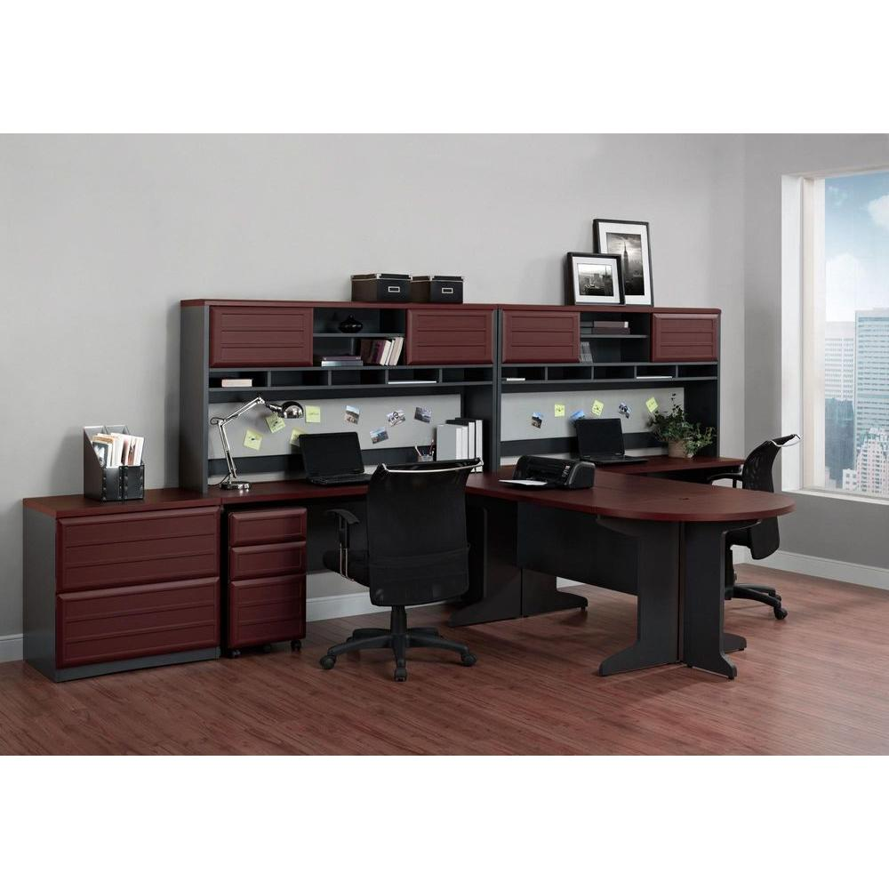 Altra Furniture Pursuit Cherry and Gray File Cabinet-9523196 - The ...