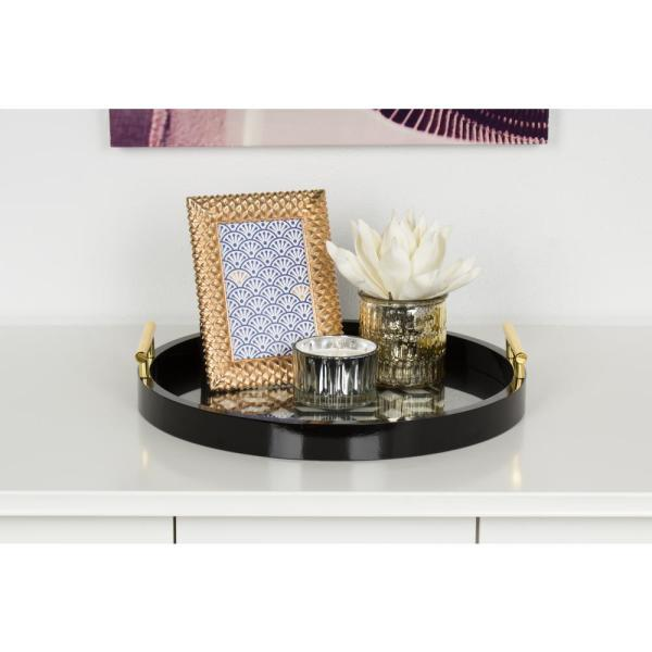 Kate and Laurel Caspen Black Decorative Tray