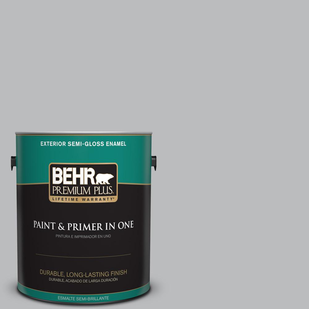 1 gal. #PPU18-05 French Silver Semi-Gloss Enamel Exterior Paint