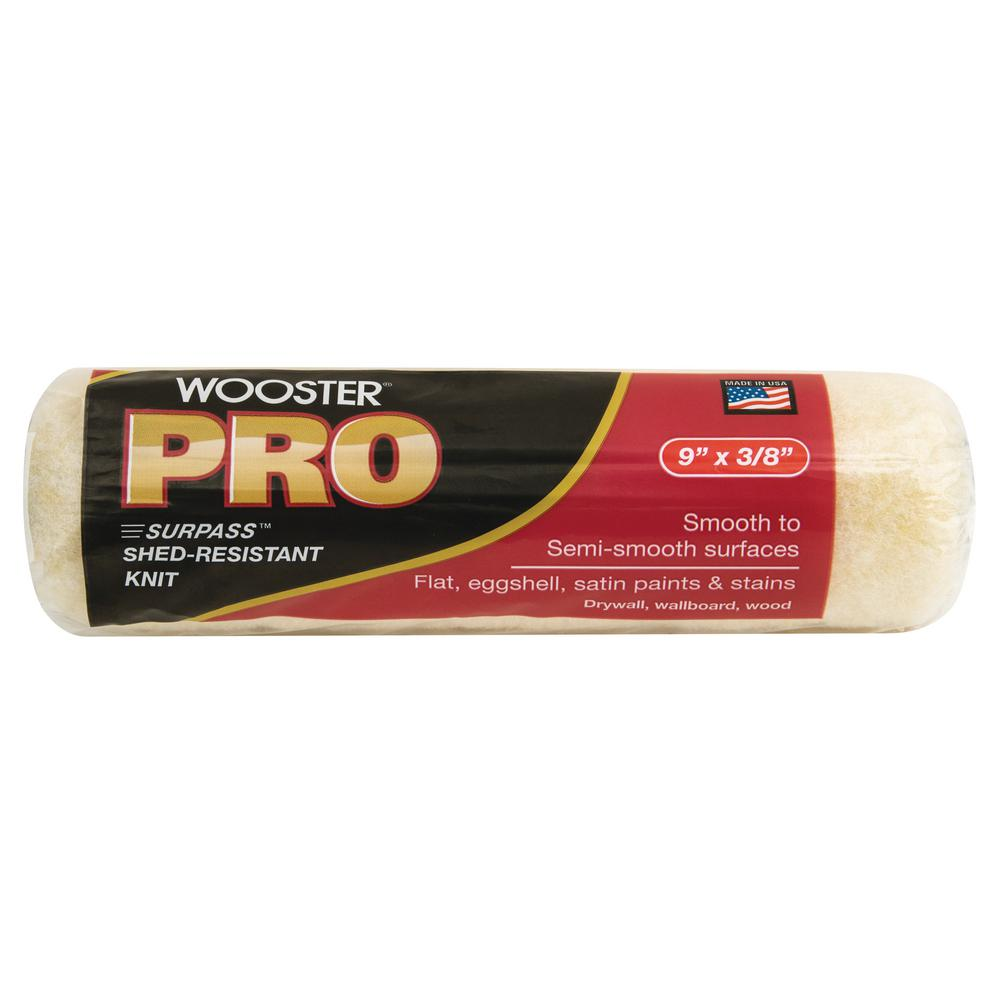 Wooster 9 in. x 3/8 in. Pro Surpass Shed-Resistant Knit High-Density Fabric Roller Cover