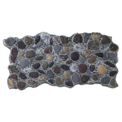 51 in. x 27 in. Polyurethane River Rock Faux Stone Panel in Pebble Gray