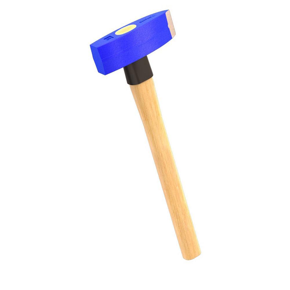 Hickory Lump Hammer 4lb Hardened forged steel head For masonry demolition