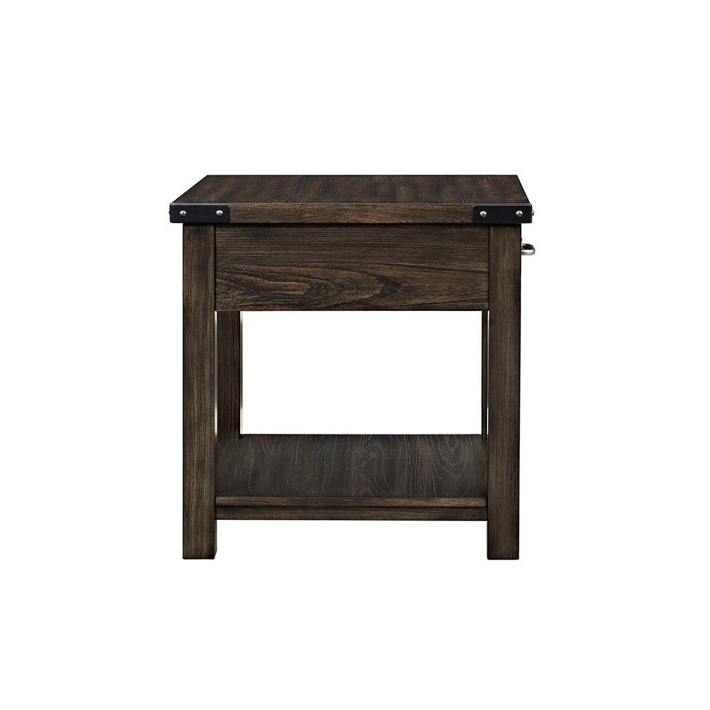 Kailas Dark Oak Storage End Table