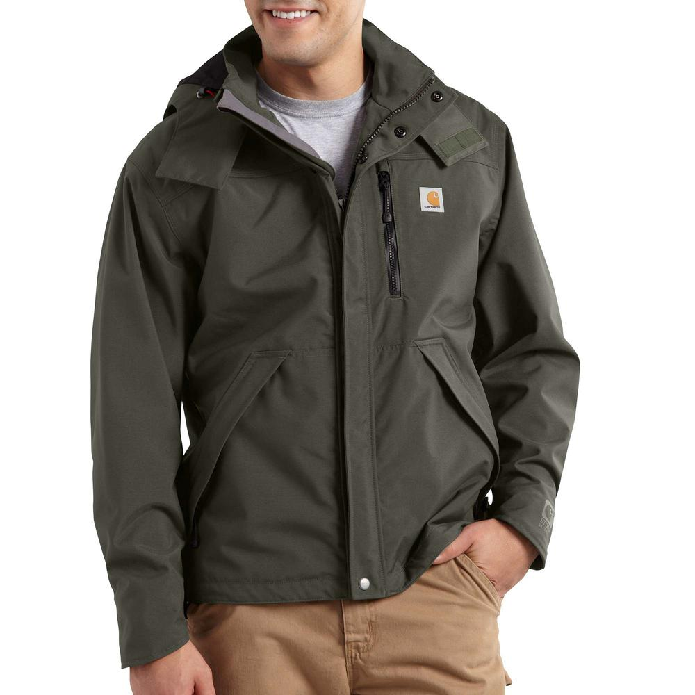 Men/'s Waterproof Breathable Comfort Hooded Jacket Zipper Closure Easy Wear Style