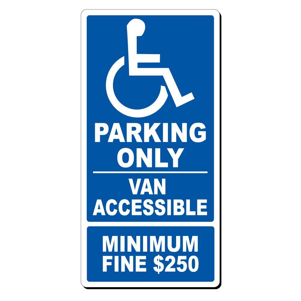 12 in. x 24 in. x 0.032 Aluminum Van Accessible Parking