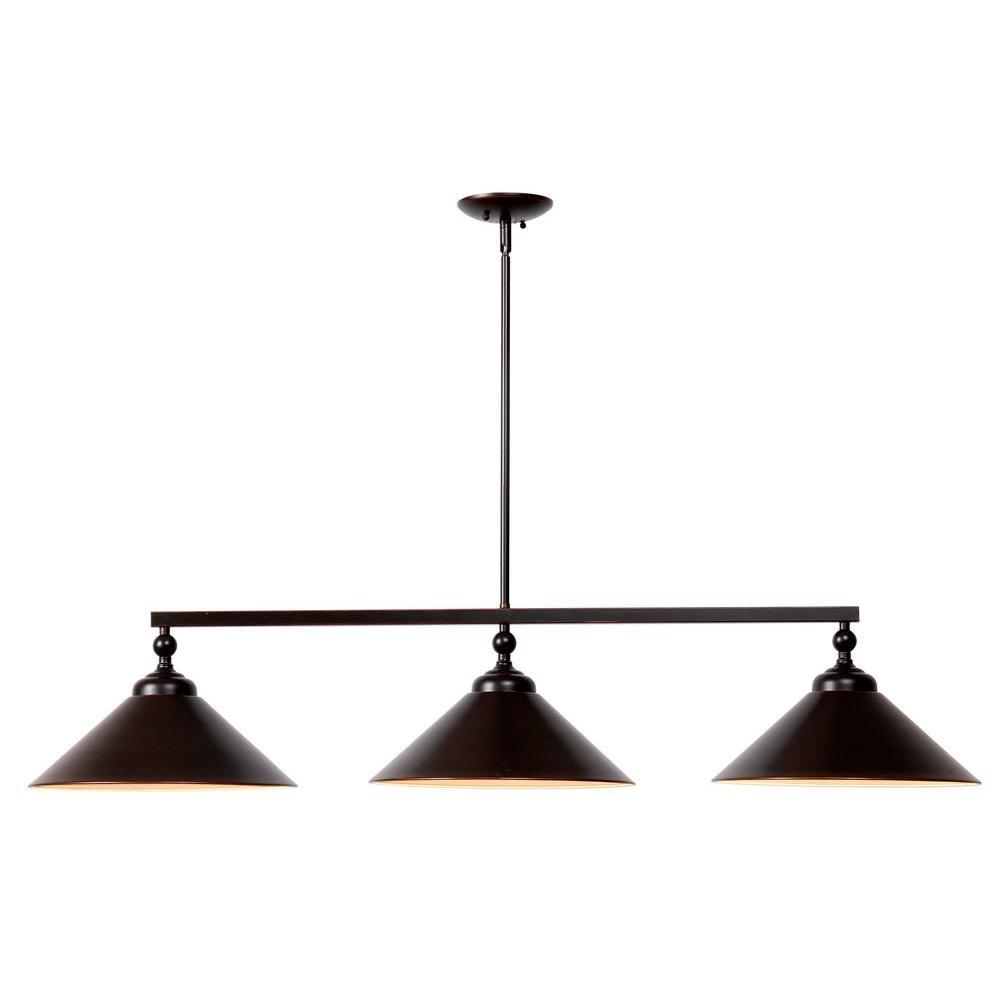Conical 3-Light Steel Island Light