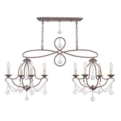 Providence 8-Light Venetian Golden Bronze Incandescent Ceiling Chandelier