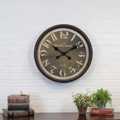 23 in. Round Metal Wall Clock