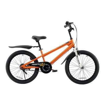 BMX Freestyle Kids Bike with 20 in. Wheels in Orange