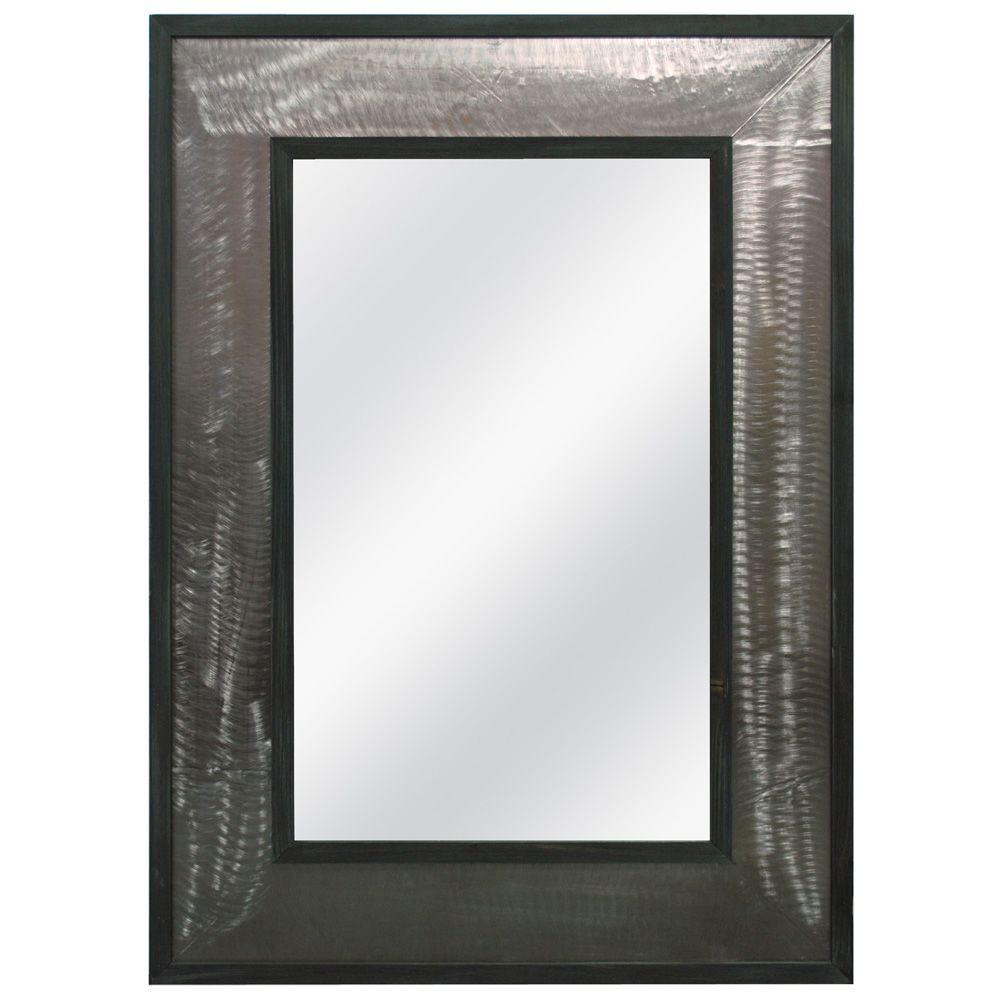 MCS 31.75x43.75 Rustic Industrial Framed Mirror - DISCONTINUED