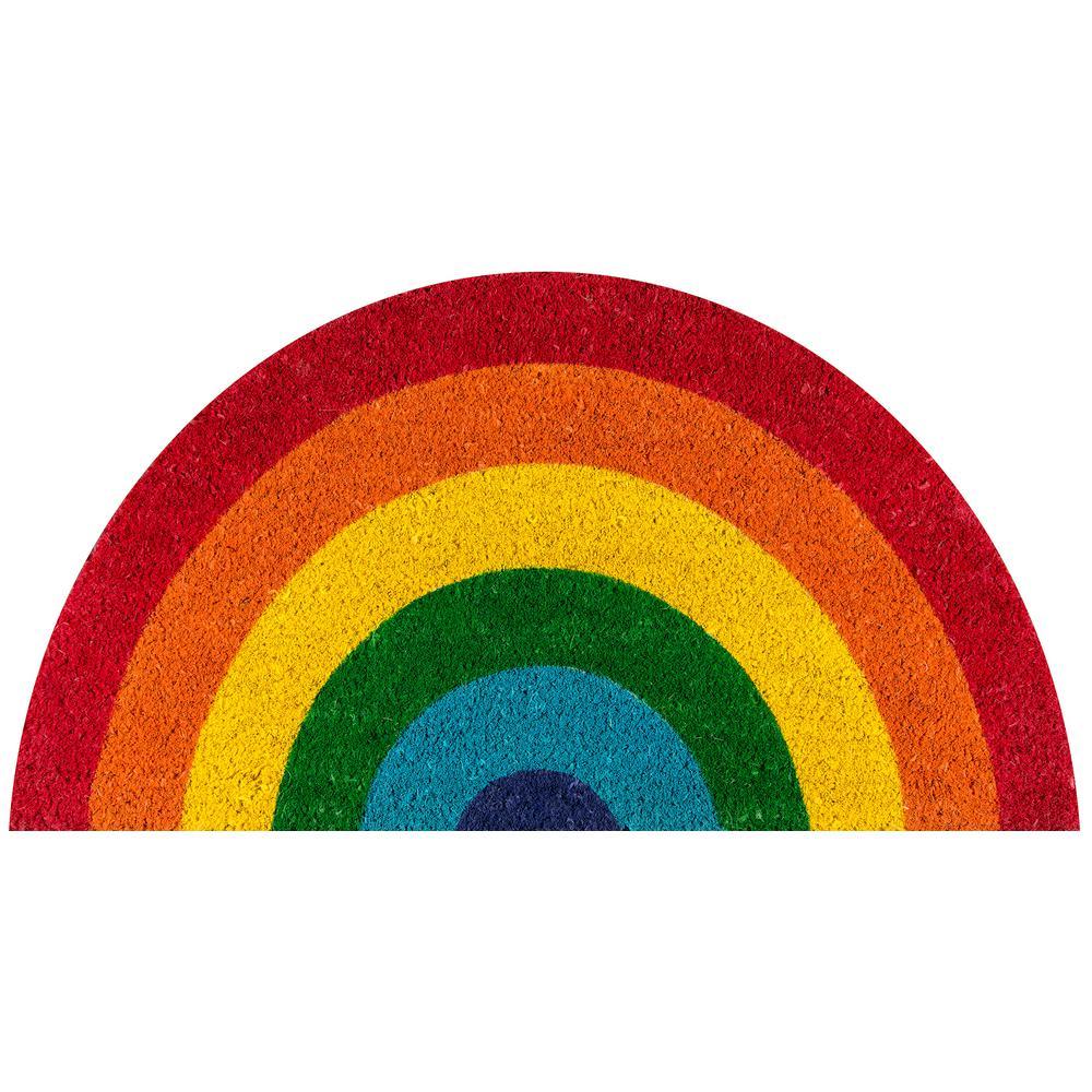 Rainbow Multi 16 in. x 30 in. Door Mat