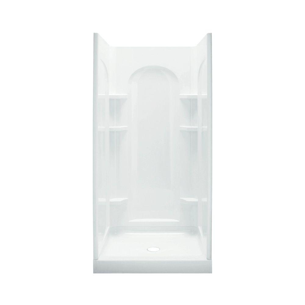 STERLING Ensemble 34 in. x 42 in. x 77 in. Curve Shower Kit in White ...