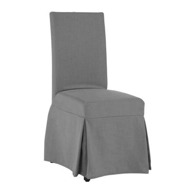 Charlotte Gray Polyester Slipcovered Chair (1 per Carton)