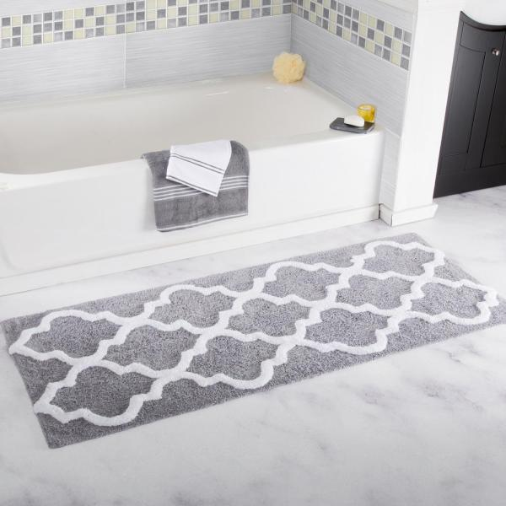 Silver 24 In X 60 Bathroom Mat