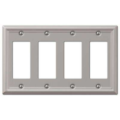 4 Switch Plate Simple 4  Nickel  Switch Plates  Wall Plates  The Home Depot Design Decoration