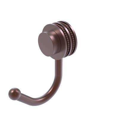 Venus Collection Robe Hook with Dotted Accents in Antique Copper