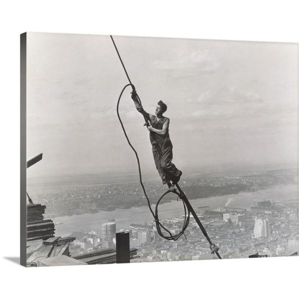 GreatBigCanvas 20 in. x 16 in. ''Icarus, Empire State Building'' by