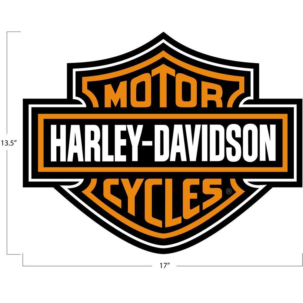 null Harley Davidson Die-Cut Heavy Duty Vinyl 17 in. x 14 in. Utility Car Mat