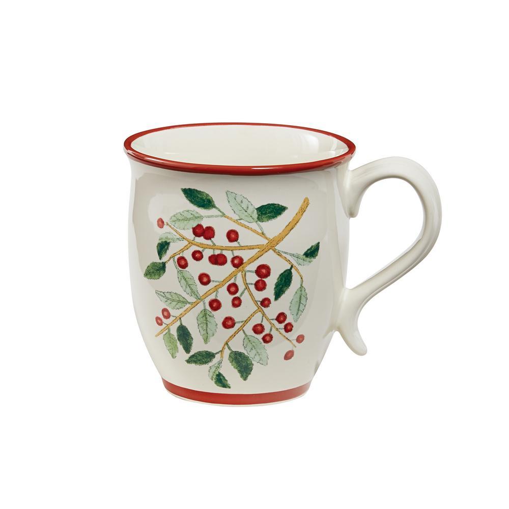 Simpy Holly Multicolor Ceramic Coffee Mug (Set of 4)