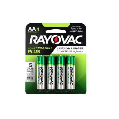 Recharge Plus Nickel Metal Hydride AA 1.4-Volt Battery (4-Pack)