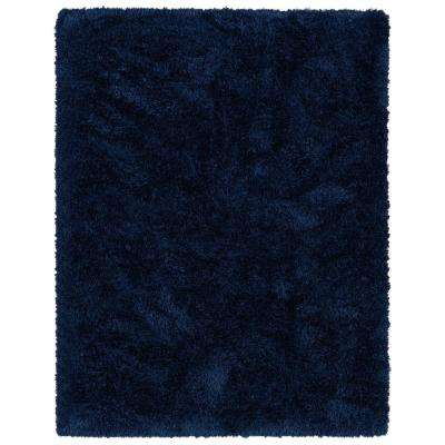 Pure Fuzzy Flokati Navy 5 ft. x 7 ft. Faux Sheepskin Indoor Kids Area Rug