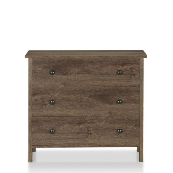 Furniture Of America London 3 Drawer Distressed Walnut Chest