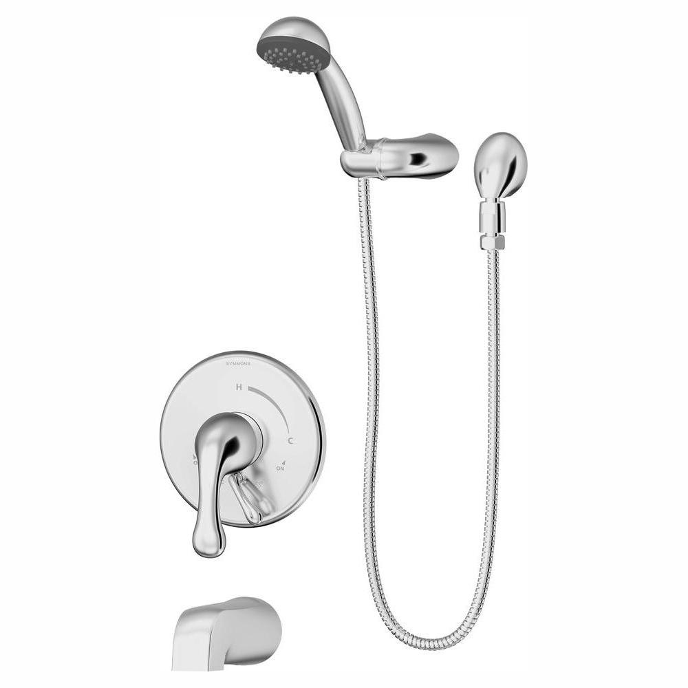 Symmons Unity 1-Spray Tub/Hand Shower System in Chrome (Valve Included)