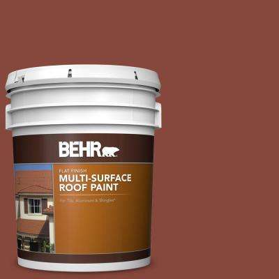 5 gal. #RP-26 Spanish Tile Flat Multi-Surface Exterior Roof Paint