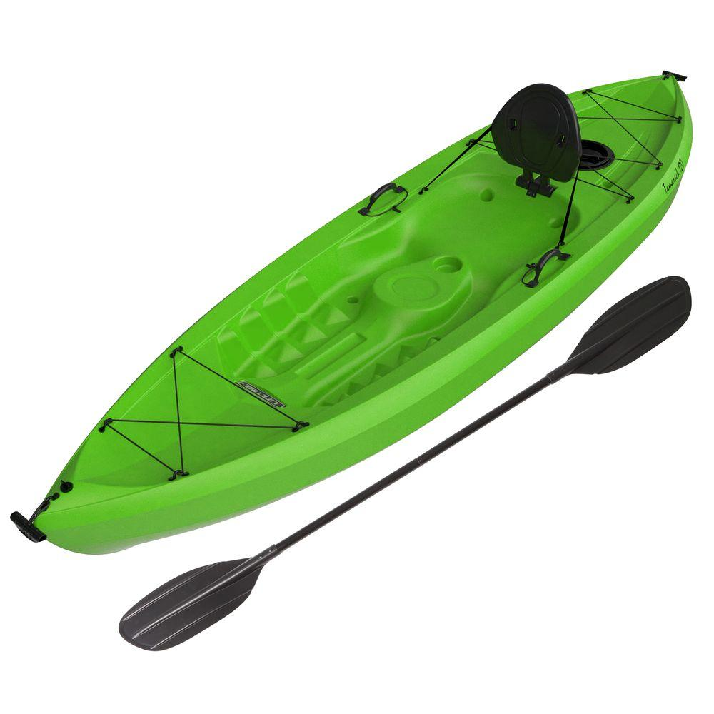 Tioga Lime 10 ft. Green Kayak with Paddle