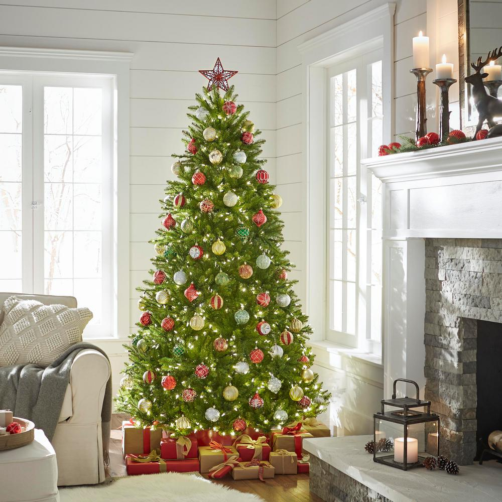 Pre Lit Christmas Tree That Puts Itself Up.Home Accents Holiday 7 5 Ft Dunhill Fir Artificial Christmas Tree With 750 9 Function Led Lights