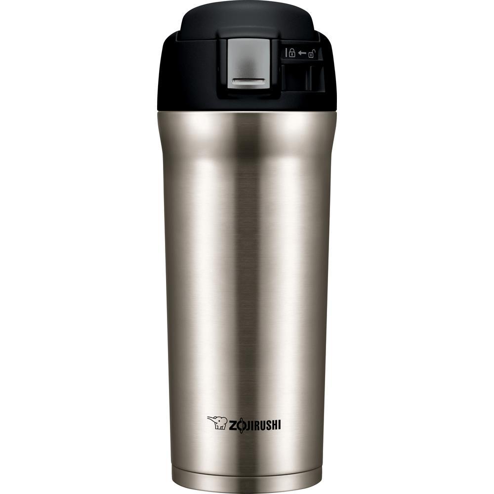 Zojirushi vacuum insulated 16 oz stainless travel mug sm - Travel mug stainless steel interior ...