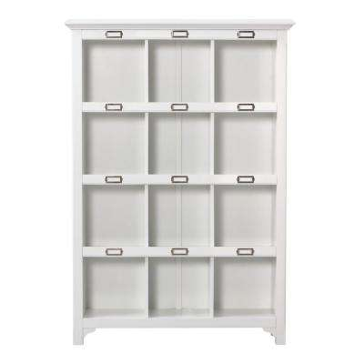 William 41.25 in. W x 58.75 in. H White 12-Cube Organizer