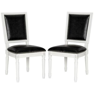 Buchanan Black and Cream Bicast Leather Dining Chair (Set of 2)