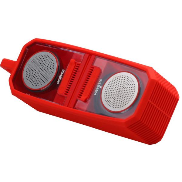 Sylvania TWS Bluetooth Magnetic Speaker with Silicon Sleeve - Red