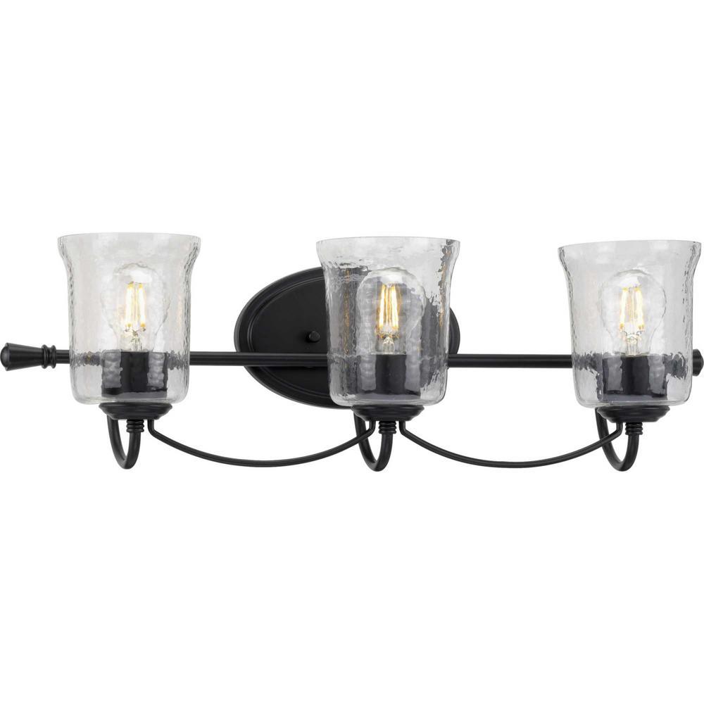 Bowman 3-Light Black Bath Light