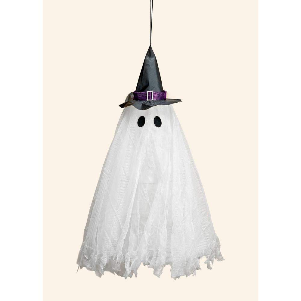 31 in. Halloween LED Multicolor Flashing Hanging Light Up Ghost with