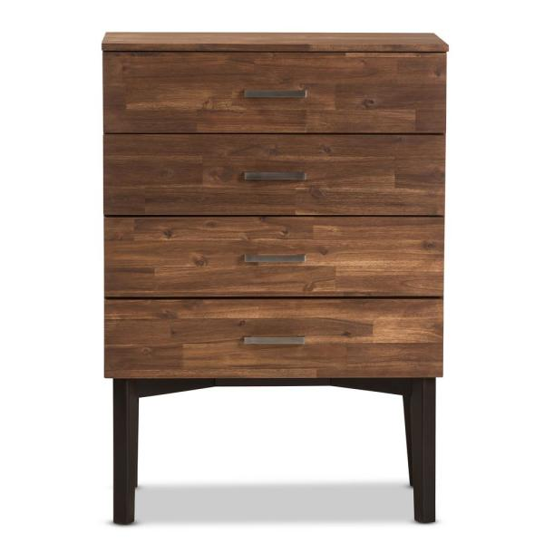 Baxton Studio Selena 4-Drawer Brown Chest 28862-7634-HD