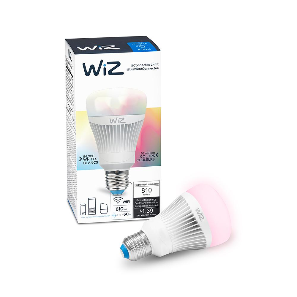 60W Equivalent A19 Colors and Tunable White Wi-Fi Connected Smart LED