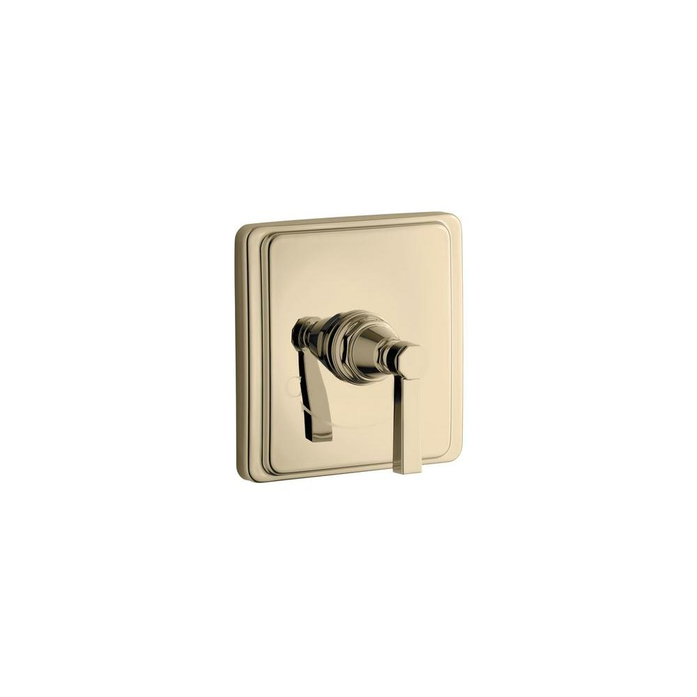 KOHLER Pinstripe Pure 1-Handle Thermostatic Valve Trim Kit with Lever Handle (Valve Not Included)-DISCONTINUED