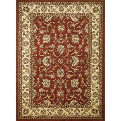 Chester Sultan Red 6 ft. 7 in. x 9 ft. 3 in. Area Rug
