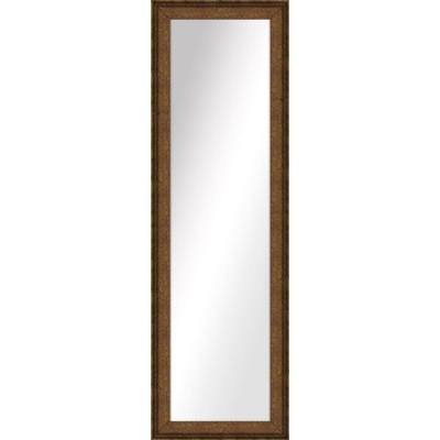 Large Rectangle Dark Gold Art Deco Mirror (52.5 in. H x 16.5 in. W)