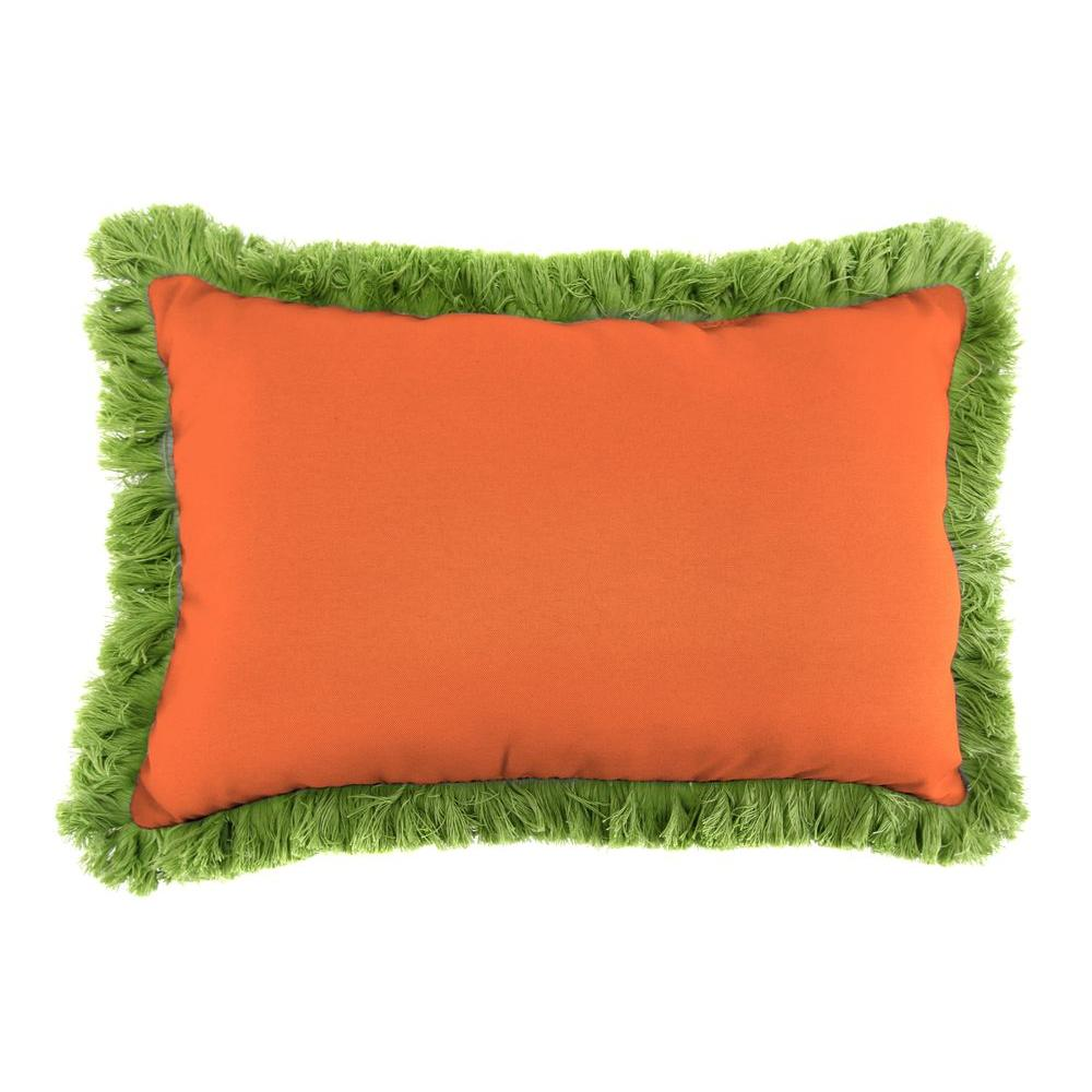 Sunbrella 9 in. x 22 in. Canvas Tuscan Lumbar Outdoor Pillow