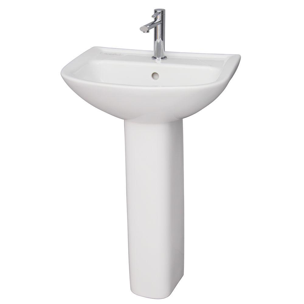 soiree toto pedestal white with bathroom the combo depot promenade sinks drain home in sink