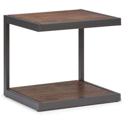 Erina Rustic Natural Aged Brown End Table