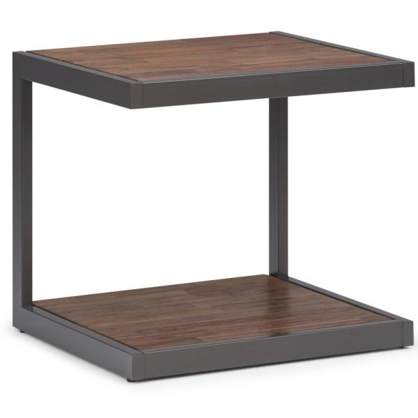 Simpli Home Erina Solid Acacia Wood and Metal 24 in. Wide