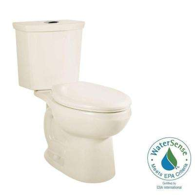 H2Option Right Height 2-piece 0.92/1.28 GPF Dual Flush Elongated Toilet in Linen