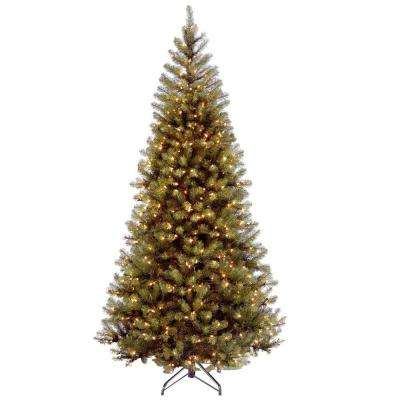 7-1/2 ft. Aspen Spruce Hinged Artificial Christmas Tree with 450 Clear Lights